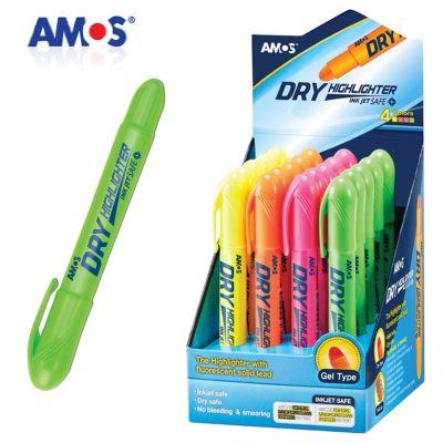 Amos Dry Highlighter Pastel Jel Fosforlu Kalem Yeşil