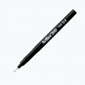 Artline - Artline 200 Fine 0.4 Fineliner Black 0006