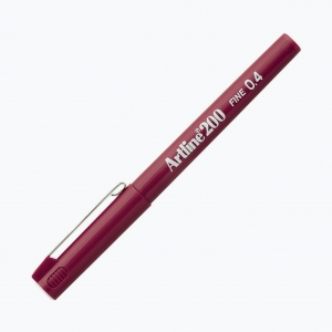 Artline - Artline 200 Fine 0.4 Fineliner Dark Red