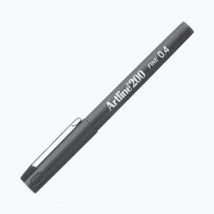 Artline - Artline 200 Fine 0.4 Fineliner Grey