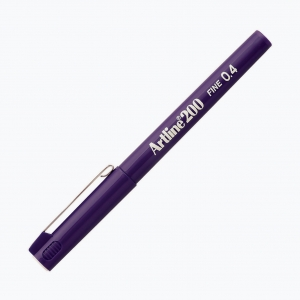 Artline - Artline 200 Fine 0.4 Fineliner Purple