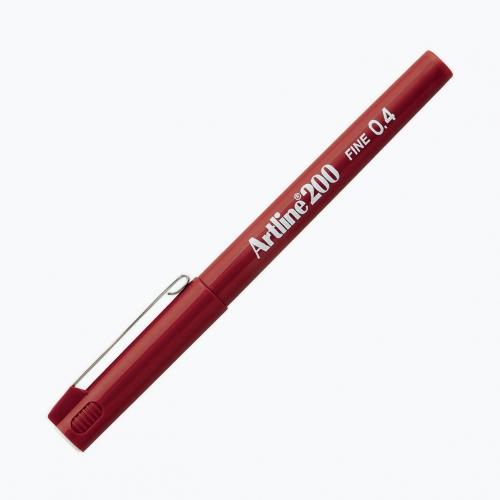 Artline 200 Fine 0.4 Fineliner Red 0020