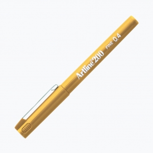 Artline - Artline 200 Fine 0.4 Fineliner Yellow 0075