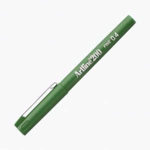 Artline - Artline 200 Fine 0.4 Fineliner Yellow Green