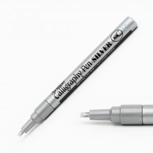Artline - Artline Calligraphy Pen 2.5 mm Kesik Uç Kaligrafi Kalemi Metalik Gümüş 3039