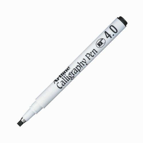 Artline Calligraphy Pen 4.0 mm Kesik Uç Kaligrafi Kalemi Siyah 8272