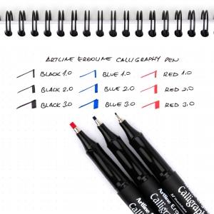 Artline Ergoline Calligraphy Pen 1.0 Kaligrafi Kalemi Mavi ERG-241 7199 - Thumbnail