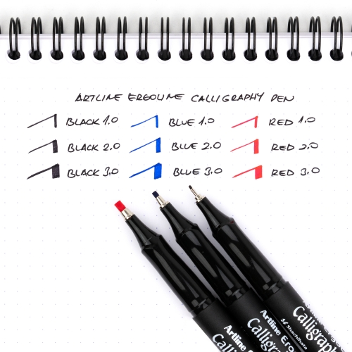Artline Ergoline Calligraphy Pen 3.0 Kaligrafi Kalemi Kırmızı ERG-243 7281