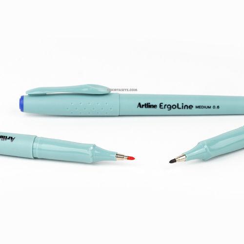 Artline Ergoline Medium 0.6 Ergonomik Yazı ve İmza Kalemi Kırmızı 1203