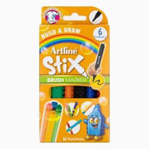Artline - Artline Stix 6'lı Brush Marker 2281