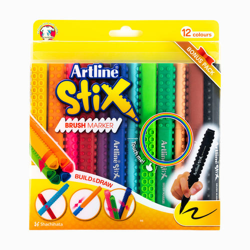 Artline Stix 12 Renk Fırça Uçlu Brush Kalem Seti 2311