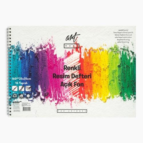 Artwork 25x35 cm Renkli Resim Defteri Açık Fon 160gr 3123