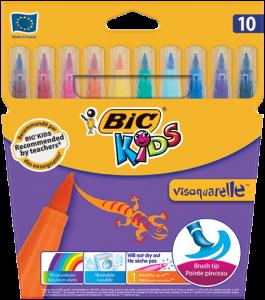 Bic - Bic Kids Visaquarelle Fırça Uçlu Keçeli Kalem