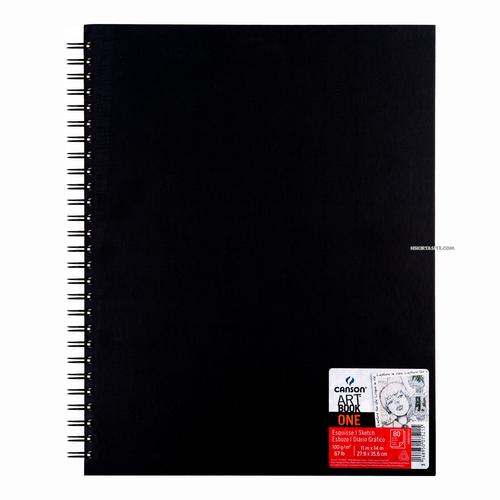 Canson ART BOOK ONE Spiralli 27.9x35.6cm 100 gr. 80 Yaprak Çizim Defteri 5215