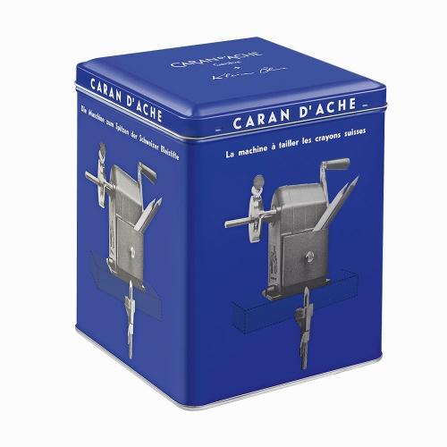Caran Dache KLEIN BLUE Metal Masa Üstü Kollu Kalemtraş Limited Edition 455-648
