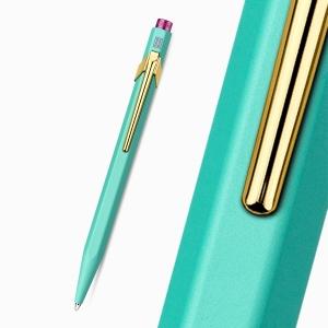 CARAN d'ACHE 849 Claim Your Style Limited Edition Tükenmez Kalem Turquoise - Thumbnail