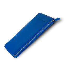 Carens - Carens Deri Kalem Kılıfı 30'lu Metalik Mavi