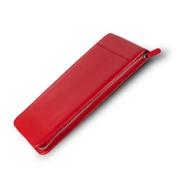 Carens - Carens Deri Kalem Kılıfı 30'lu Kırmızı