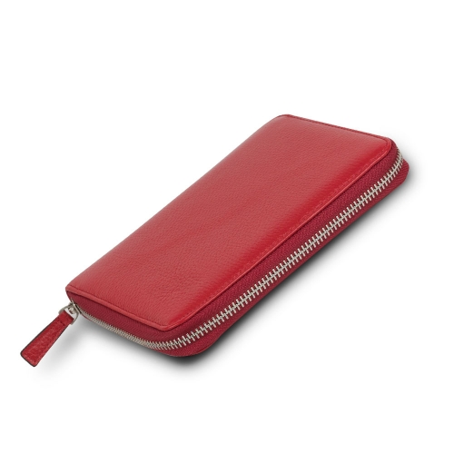 CARENS Deri 6'lı Kalem Çantası ve Notluk Kırmızı