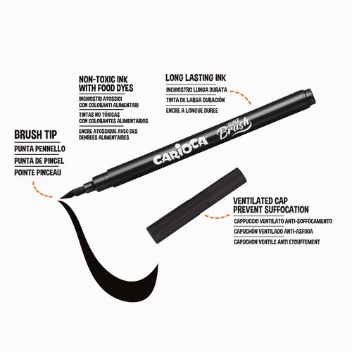 Carioca 10'lu Super Brush (Fırça Uçlu) Keçeli Kalem Seti 9379