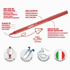 Carioca 96'lı Süper Yıkanabilir Keçeli Kalem Seti 0223 - Thumbnail