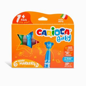 Carioca Baby Teddy 6'lı Yıkanabilir Keçeli Boya Kalemi Seti 8150 - Thumbnail