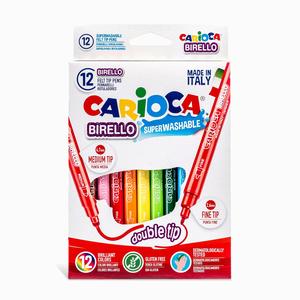 Carioca - Carioca Birello 12′li Çift Uçlu Yıkanabilir Keçeli Kalem Seti 4573