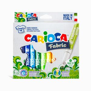Carioca - Carioca Fabric 12′li Maxi Tekstil Kalem Seti 9579