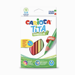Carioca - Carioca Tita Triangular 12'li Kuru Boya Seti 7917
