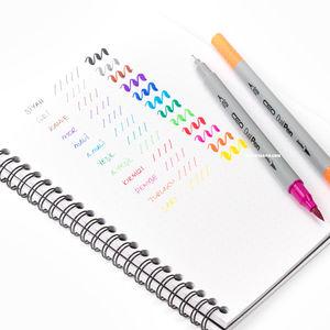 CEO Dual Pen 12 Renk Çift Taraflı Brush/Fineliner Kalem Seti 6624 - Thumbnail
