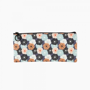 Chumac - Chumac Tyvek Kalem Çantası Japon Çiçekleri Deseni BG0107 8475