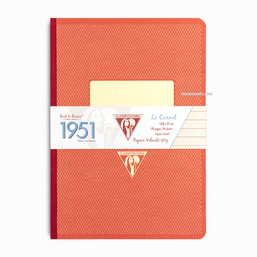 Clairefontaine 1951 A5 Çizgili Defter 192 Sayfa Orange 195146
