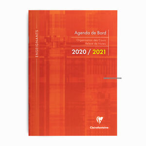 Clairefontaine 2020/2021 A4 Agenda de Board Orange 3099C 3553 - Thumbnail