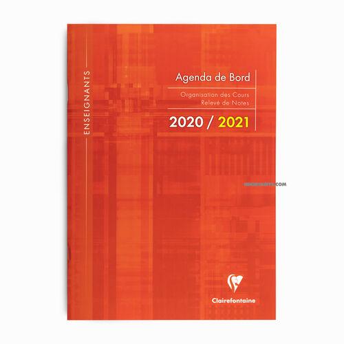 Clairefontaine 2020/2021 A4 Agenda de Board Orange 3099C 3553