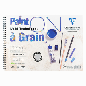 Clairefontaine - Clairefontaine 25x35cm 200gr Paint on a Grain Dokulu Çizim Defteri 2351