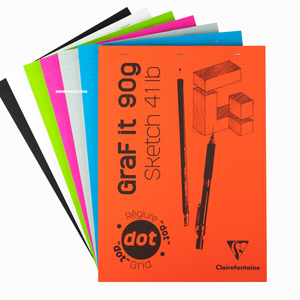 Clairefontaine - Clairefontaine A4 Graf it 90g Dot Grid (Noktalı) Sketch Pad 6534