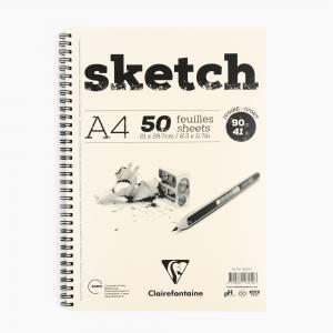 Clairefontaine A4 Sketch Pad 90gr. Çizim Defteri 96259 2598 - Thumbnail