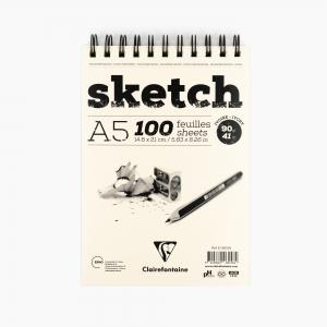 Clairefontaine A5 Sketch Pad 90gr. Çizim Defteri 96158 1584 - Thumbnail