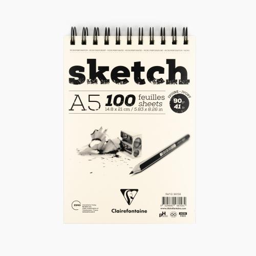 Clairefontaine A5 Sketch Pad 90gr. Çizim Defteri 96158 1584