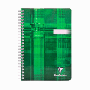 Clairefontaine - Clairefontaine A5 Spiralli Çizgili Defter Yeşil 4602