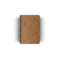 Clairefontaine - Clairefontaine Age Bag A6 Telli Kareli Defter Kahve