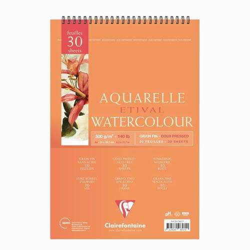 Clairefontaine Aquarelle Etival Watercolor A4 Sulu Boya Defteri 5711