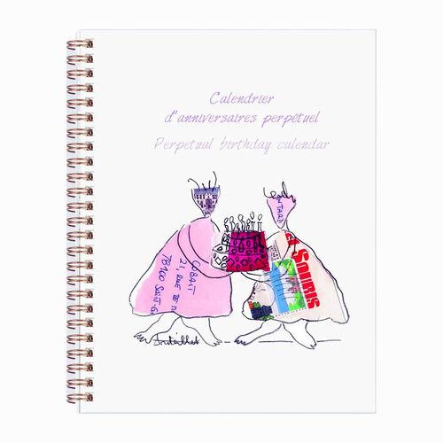 Clairefontaine Birthday Calendar+Sticker A5 Spiralli Doğum Günü Defteri 115621C 6217