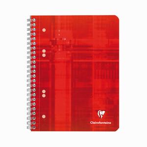 Clairefontaine - Clairefontaine Functional A5 Spiralli Perforeli Çizgili Defter Kırmızı 5761