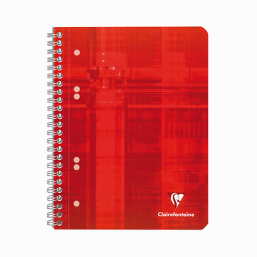 Clairefontaine Functional A5 Spiralli Perforeli Kareli Defter Kırmızı 5723
