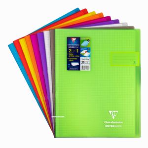 Clairefontaine - Clairefontaine KoverBook Şeffaf Kapak 24X32cm Kareli Defter 6013