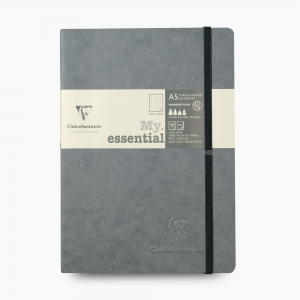 Clairefontaine - Clairefontaine My Essential A5 Dot (Noktalı) Defter Gri 4352