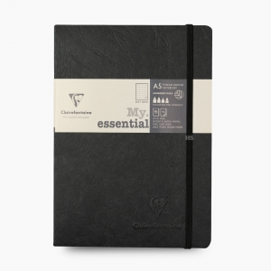 Clairefontaine - Clairefontaine My Essential A5 Dot (Noktalı) Defter Siyah 4314