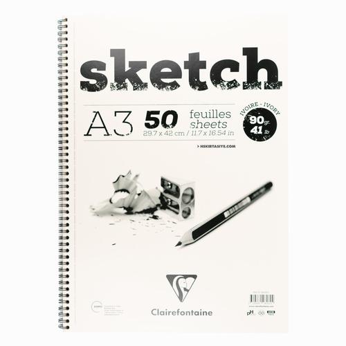 Clairefontaine Sketch A3 90gr Ivory Çizim Defteri 2604