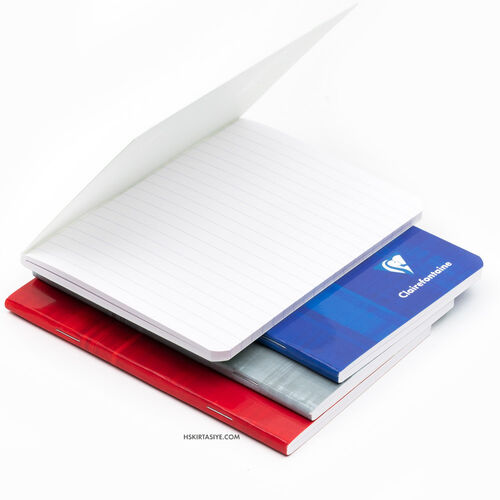 Clairefontaine Stapled Notebook A6 96 Sayfa Çizgili Defter Grey 3646C 1882